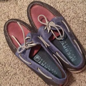 Sperry Top Sider Limited Edition Red and Blues